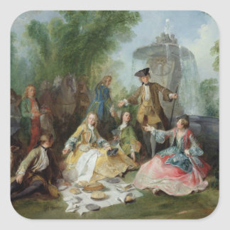 The Hunting Party Meal, c. 1737 Square Sticker