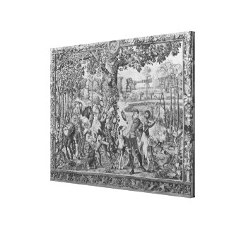 The Hunts of Maximilian, Leo, The Stag Hunt Canvas Print