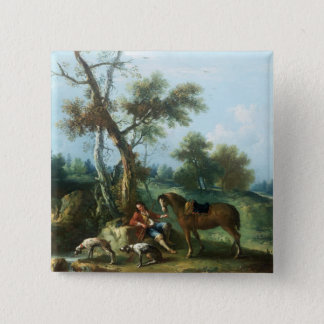 The Huntsman's Rest, 18th century Button