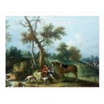 The Huntsman's Rest, 18th century Postcard
