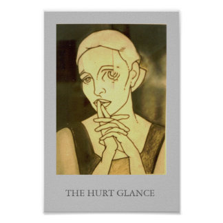The hurt glance poster