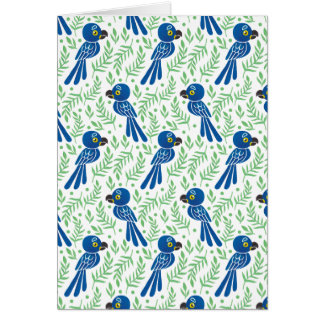 The Hyacinth Macaw Pattern Card