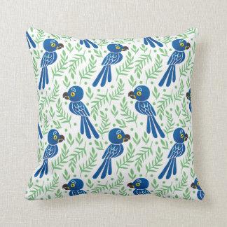 The Hyacinth Macaw Pattern Pillow