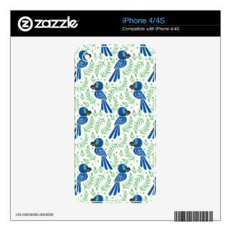The Hyacinth Macaw Pattern Skins For iPhone 4S