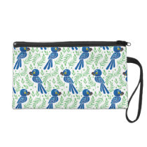 The Hyacinth Macaw Pattern Wristlet Purse