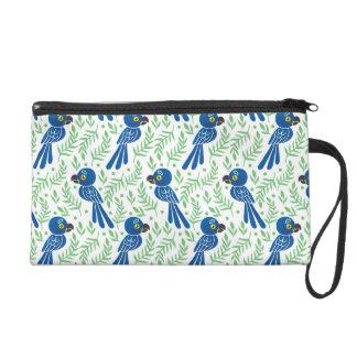 The Hyacinth Macaw Pattern Wristlet Purse