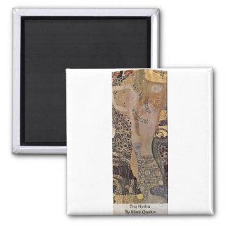 The Hydra By Klimt Gustav 2 Inch Square Magnet