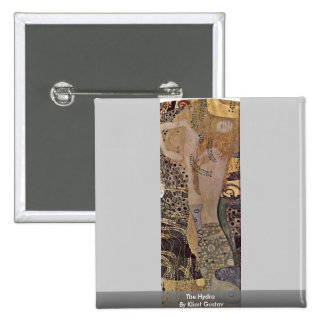 The Hydra By Klimt Gustav 2 Inch Square Button