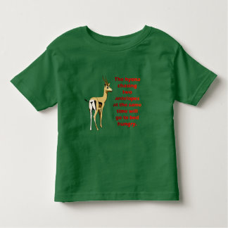 The hyena that chases 2 antelopes toddler t-shirt