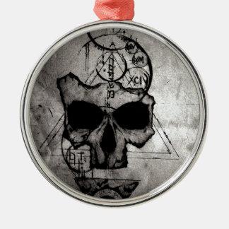 The Hyman Skull Metal Ornament