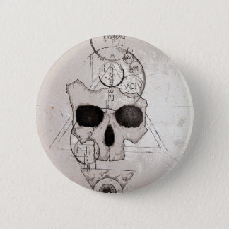 The Hyman Skull Posterized Button