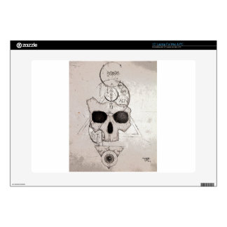 "The Hyman Skull Posterized Decal For 15"" Laptop"