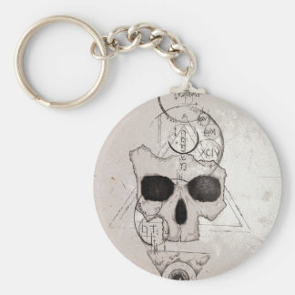 The Hyman Skull Posterized Keychain