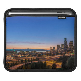 The I-5 freeway and downtown Seattle at twilight iPad Sleeve