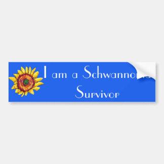 The I am a Schwannoma Survivor bumper sticker