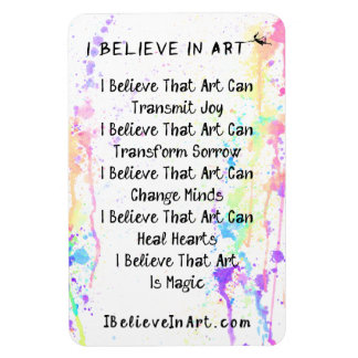 The I Believe In Art Manifesto Promotional Magnet