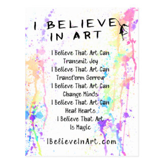 The I Believe In Art Manifesto Promotional Postcard