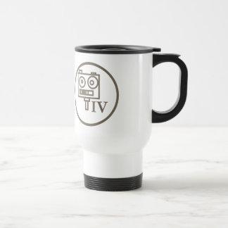 """The """"I build robots"""" badge (LEVEL IV) Travel Mug"""