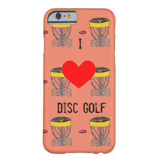 The I ♥ Disc Golf Iphone case/cover Barely There iPhone 6 Case