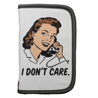 The I don't care retro gal Organizers