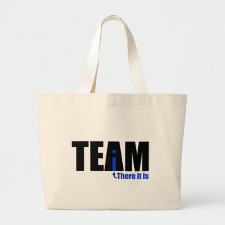 The i in TEAM Large Tote Bag