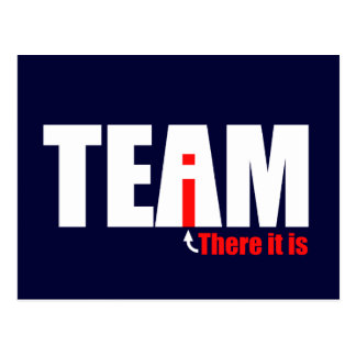 The i in TEAM Postcard