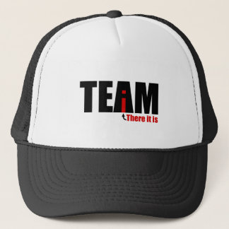 The i in TEAM Trucker Hat
