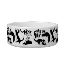 The I Love Tuxedo Cats Pet Bowl