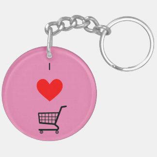 The I ♥ Shopping Cart keychain