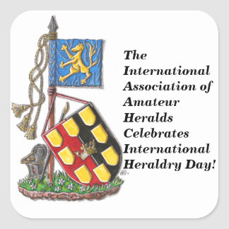 The IAAH Celebrates International Heraldry Day Square Sticker