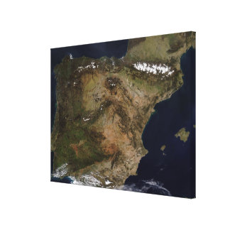 The Iberian Peninsula Canvas Print