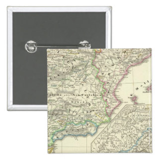 The Iberian Peninsula from 1257 to 1479 2 Inch Square Button