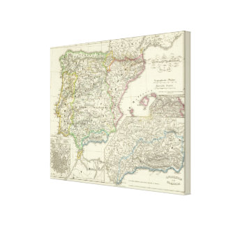 The Iberian Peninsula from 1257 to 1479 Canvas Print