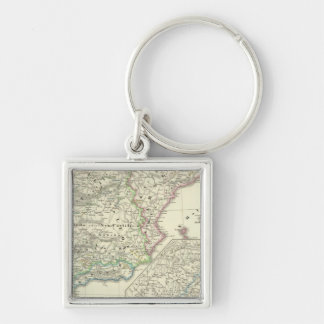 The Iberian Peninsula from 1257 to 1479 Silver-Colored Square Keychain