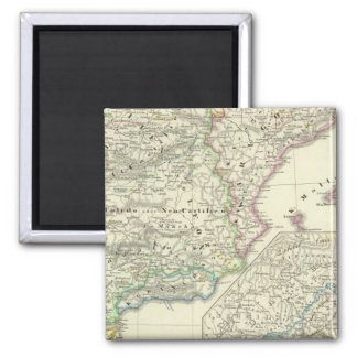 The Iberian Peninsula from 1257 to 1479 2 Inch Square Magnet