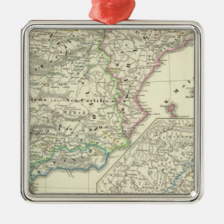 The Iberian Peninsula from 1257 to 1479 Square Metal Christmas Ornament