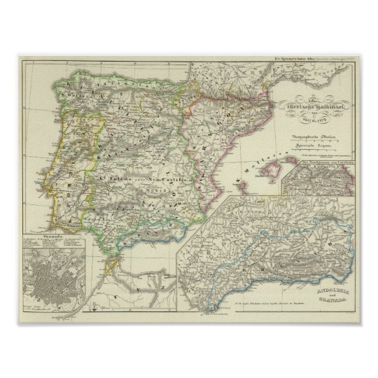 The Iberian Peninsula from 1257 to 1479 Poster
