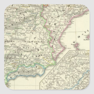 The Iberian Peninsula from 1257 to 1479 Square Sticker