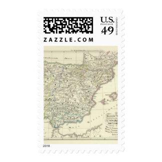 The Iberian Peninsula Postage Stamp