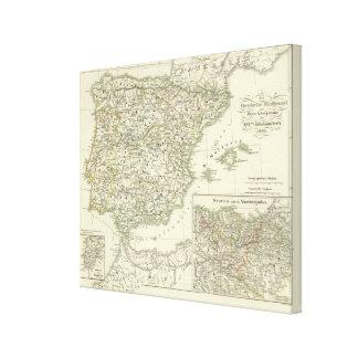The Iberian peninsula since the beginning Canvas Print