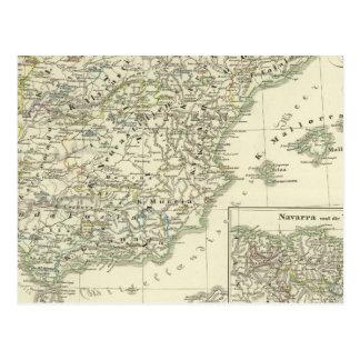 The Iberian peninsula since the beginning Postcard