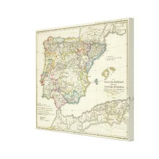 The Iberian peninsula to their church Canvas Print