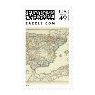 The Iberian peninsula to their church Stamps
