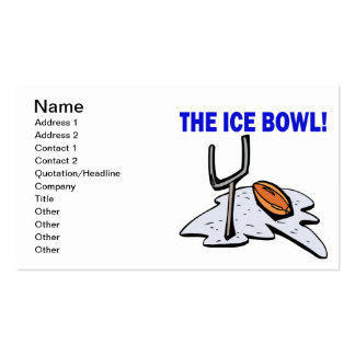 The Ice Bowl Business Card