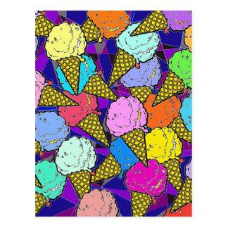 The ice cream cones. postcard