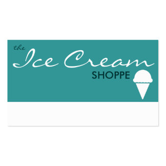 the ICE CREAM shoppe (color customizable) Double-Sided Standard Business Cards (Pack Of 100)