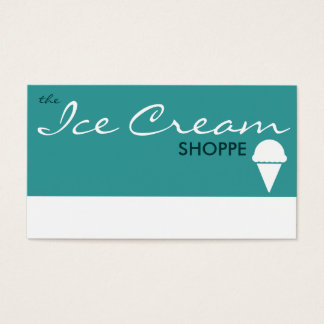 the ICE CREAM shoppe (color customizable) Business Card