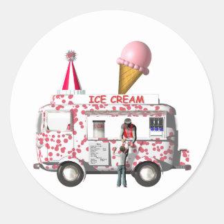The Ice Cream Truck Classic Round Sticker