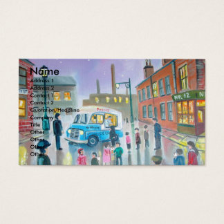The Ice Cream Van oil painting Business Card