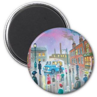 The Ice Cream Van oil painting Fridge Magnet